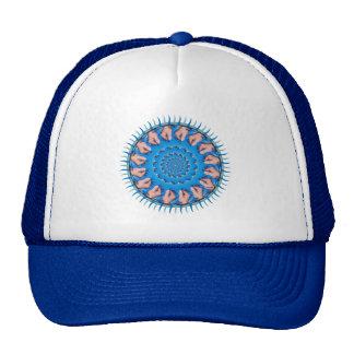 Blue Plastic Mesh Hats