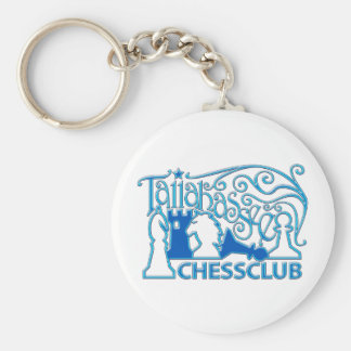 Blue Plastic Keychain