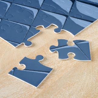 Blue Plastic Tiles Jigsaw Puzzle