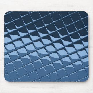Blue Plastic Tiles Mouse Pad