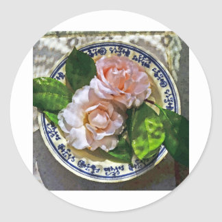 Blue Plate Special III Round Stickers