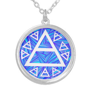 Blue Plato s Air Symbol Necklace