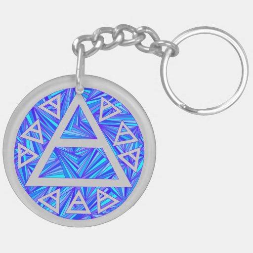 Blue Plato's Air Symbol Art Key Chain