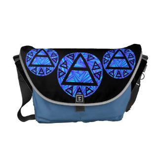 Blue Plato's Air Symbol Art Messenger Bag