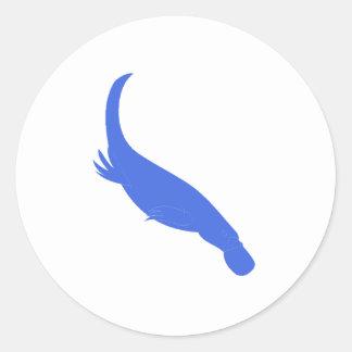 Blue Platypus Sticker