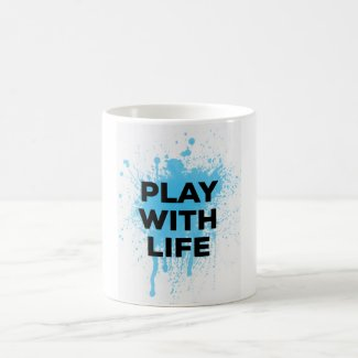 BLUE PLAY WITH LIFE MUG