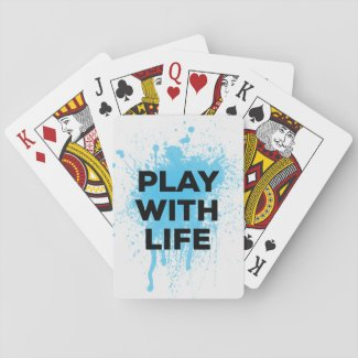 BLUE PLAY WITH LIFE PLAYING CARDS