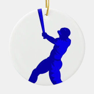 Blue Player Christmas Ornaments
