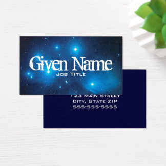 Blue Pleiades Business Card