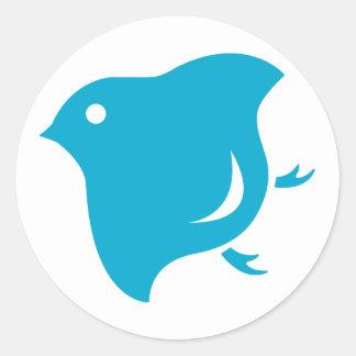 blue plover sticker