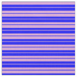 [ Thumbnail: Blue & Plum Colored Lines/Stripes Pattern Fabric ]
