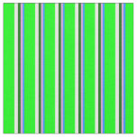[ Thumbnail: Blue, Plum, Dark Green, White & Lime Pattern Fabric ]