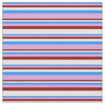 [ Thumbnail: Blue, Plum, Dark Red, and Light Cyan Colored Fabric ]