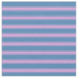 [ Thumbnail: Blue & Plum Stripes Fabric ]