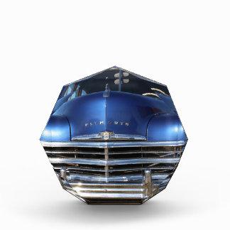 Blue Plymouth Old Fashion Car Award