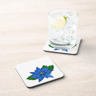 Blue Poinsettia Coaster