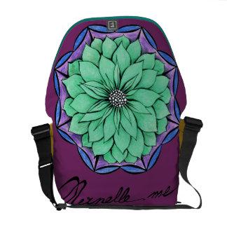 BLUE POINSETTIA Design Courier Bags