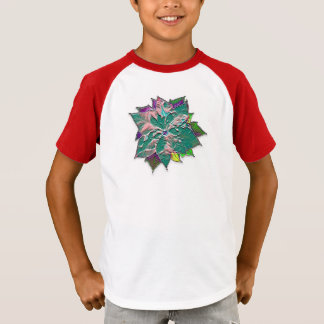 Blue Poinsettia T-Shirt
