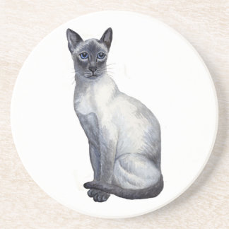 blue point siamese cat coaster