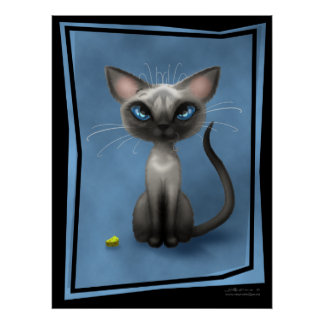Blue Point Siamese Kitty Poster
