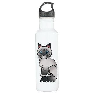 Blue Point Tabby Birman / Ragdoll Cat Water Bottle