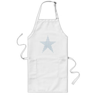 Blue pointillism star painting aprons