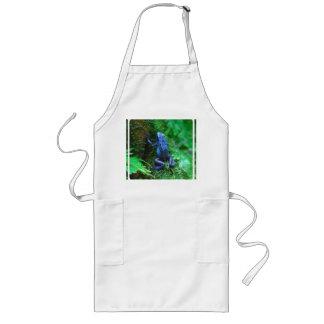 Blue Poison Arrow Frog Long Apron