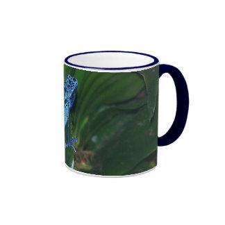 Blue Poison Arrow Frog Portrait Mug