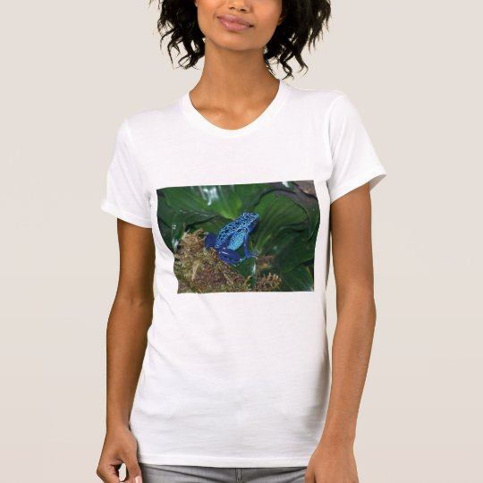 Blue Poison Arrow Frog Portrait T-Shirt