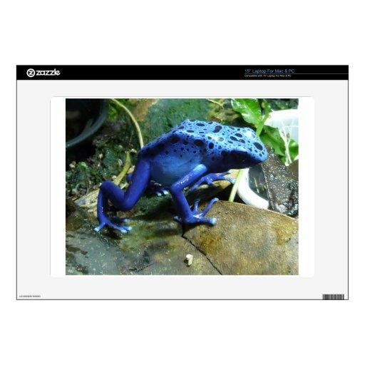 "Blue Poison Dart Frog 15"" Laptop Decal"