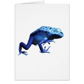 Blue Poison Dart Frog Card