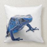 Blue Poison Dart Frog (Dendrobates Tinctorius) Pillow