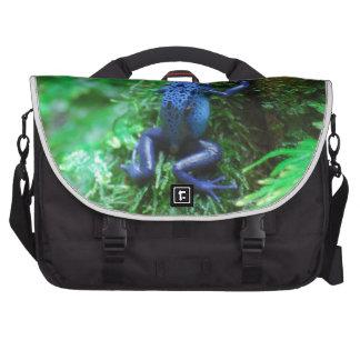 Blue Poison Dart Frog Laptop Bags