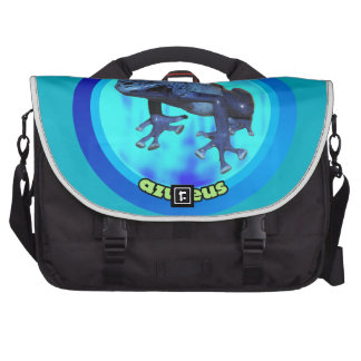 Blue poison dart frog. bag for laptop