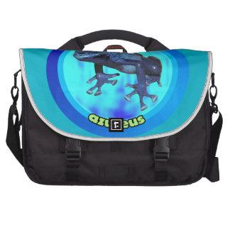 Blue poison dart frog. bags for laptop
