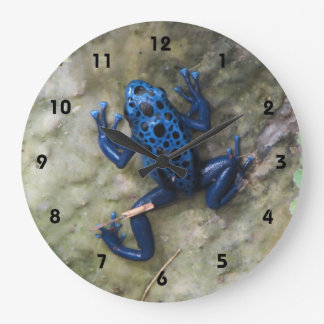 Blue Poison Dart Frog Large Clock