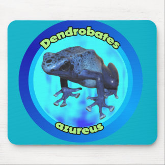 Blue poison dart frog. mouse pad