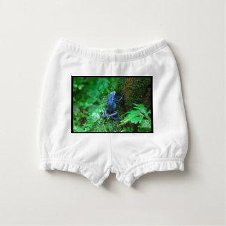 Blue Poison Dart Frog Diaper Cover