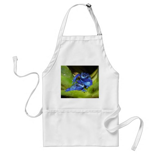 Blue Poison Dart Frogs In Leaf 1 Aprons