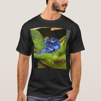 Blue Poison Dart Frogs In Leaf 1 T-Shirt