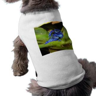 Blue Poison Dart Frogs In Leaf 1 Tee