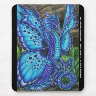 Blue Poison Dragon Fly Mousepad