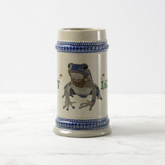 Blue poison frog magnetic cup 18 oz beer stein