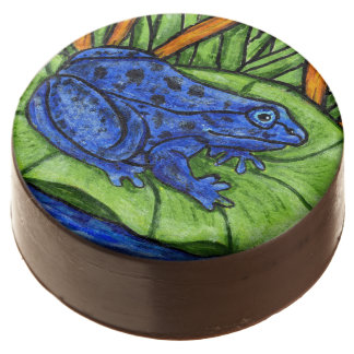 Blue Poison Vibrant Frog Chocolate Dipped Oreo