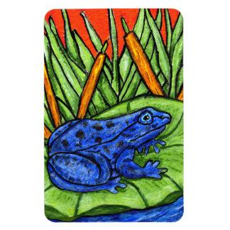 Blue Poison Vibrant Frog Rectangular Photo Magnet