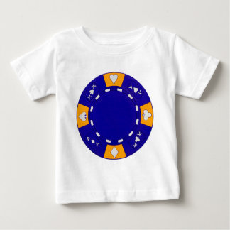 Blue Poker Chip Baby T-Shirt