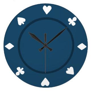 Blue Poker Chip Clock