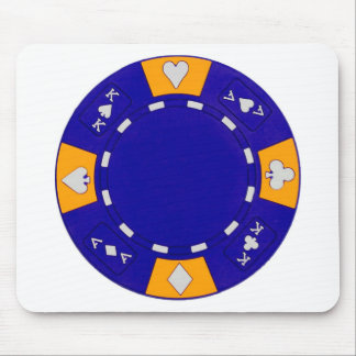 Blue Poker Chip Mouse Pad
