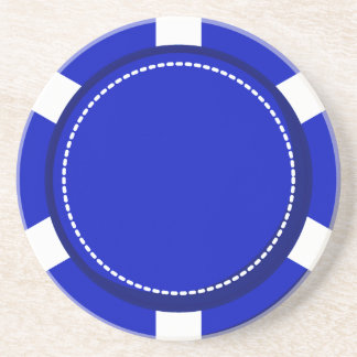 Blue Poker Chip Sandstone Coaster