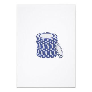 Blue poker chips card